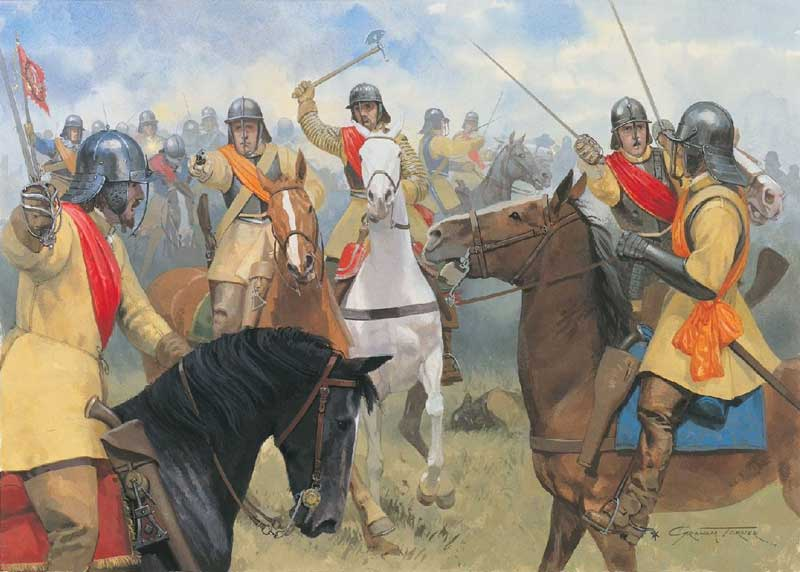 parliamentarian and royalist cavalry during the first battle of newbury