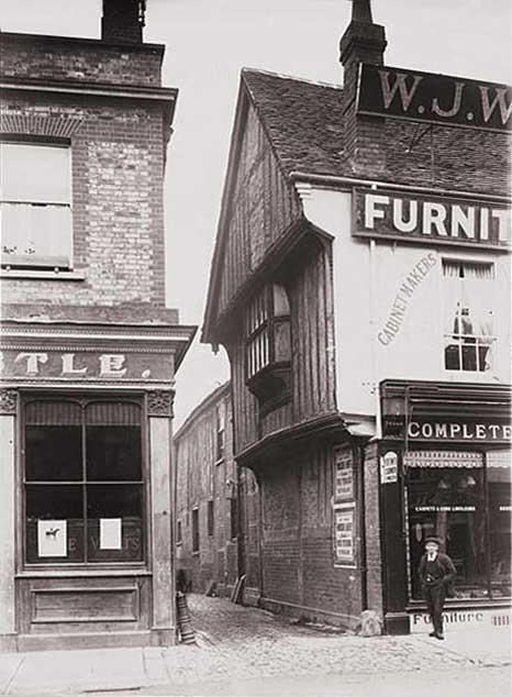 24 northbrook street as a furniture shop c.1910