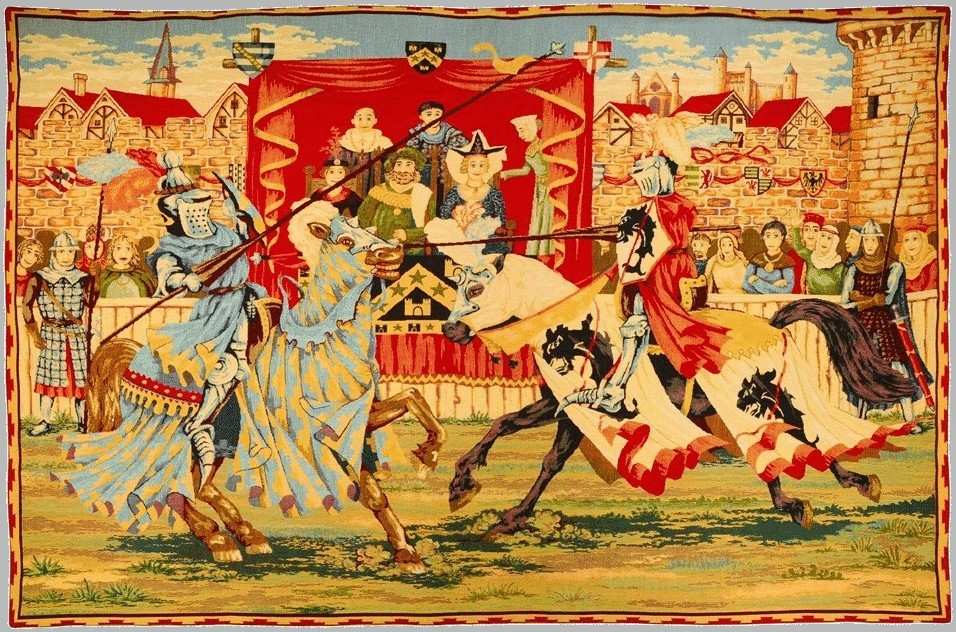 medieval jousting tournament at Newbury
