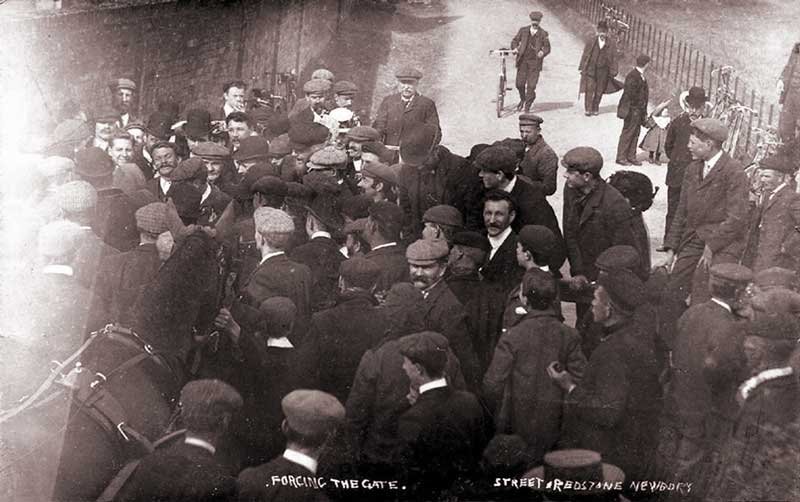 the dispute on good friday of church road that lead to shaw house c.1907