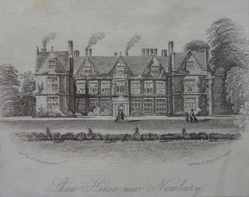 engraving by laytons of shaw house